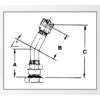 543E Truck Tubeless Tire Valve - 75 Degree - Diagram