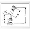 554D Truck Tubeless Tire Valve - 60 Degree - Diagram
