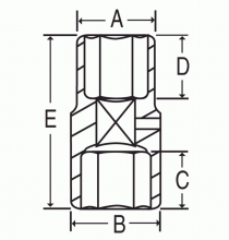 2146DT 1/2in. Drive Extra-Thin Wall Flip Impact Socket - Diagram