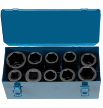 9151 1in. Drive Heavy-Duty Truck Impact Socket Set - With Metal Case