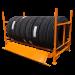 MTFR Truck Tire Folding Rack 94in. x 44in. x 52in. - In Use