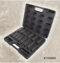 1153MD 1/2in. DR 14 Piece Metric Deep Set