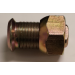 304R Cap Nut Right Hand M30 X 1.5 Thread - Yellow Zinc