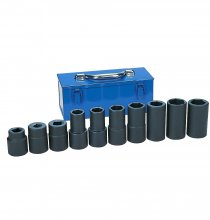 9263 No. 5 Spline Drive Standard/Deep Length Impact Socket Set - 10-Piece