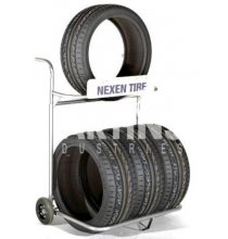 ASMFTD Four Tire Rolling Tire Display
