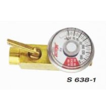 MIS6381 In-Line Air Flow Regulator 1/4in. Female NPT x 1/4in.  Male NPT w/Gauge