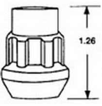 20205 7/16 Acorn Lock Qty:1
