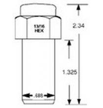 8856 12mm 1.25 SST Mag Qty:1