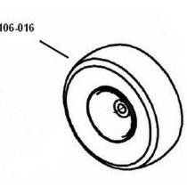 106-016 Wheel Assembly With Bearings
