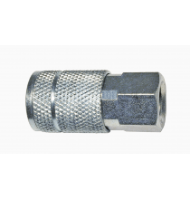 C2 1/4in. T Design x 1/4in. FNPT Steel Coupler