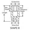 2042D 1/2in. Drive x 1-5/16in. Deep Length Fractional Impact Socket - Diagram