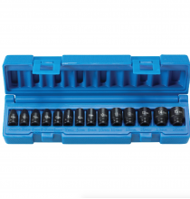 9714M 1/4in. Drive Standard Length Surface Drive Impact Metric Set - 14 Piece - With Molded Case