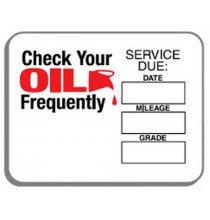 63-310 Oil Change Stickers 500/Roll