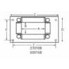 600168 4-Way Roller Hose Guide