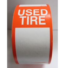 66 Tire Stickers - USED TIRE - Qty 250