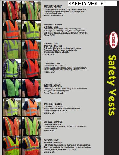 BOSS SAFETY VESTS